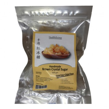BROWN CRYSTAL SUGAR - HANDMADE (500 gm)