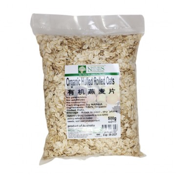 ORGANIC HULLED ROLLED OATS (500G)