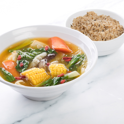 Mixed Vegetables in Pumpkin Broth Rice